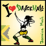 Dancer dancehall style, hand drawing Stock Image