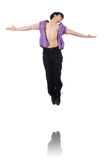 Dancer dancing dances isolated Royalty Free Stock Photography