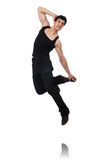 Dancer dancing dances isolated Royalty Free Stock Photos