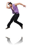Dancer dancing dances isolated Royalty Free Stock Photo