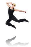 Dancer dancing dances isolated Stock Photography