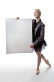 Dancer with display sign Stock Photo
