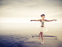 Dancer on a dock Royalty Free Stock Image