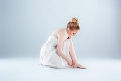 Dancer dress ballet flats Royalty Free Stock Photos