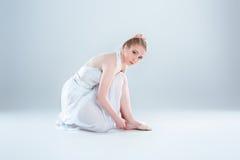 Dancer dress ballet flats Royalty Free Stock Photo