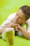 Dancer  exercising in pointe Royalty Free Stock Photo