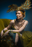 Dancer in exotic costume Royalty Free Stock Photo