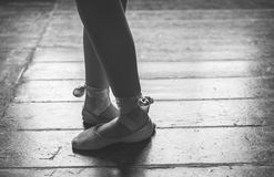 Dancer feet close up Royalty Free Stock Images