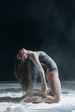 Dancer and flour Royalty Free Stock Photography