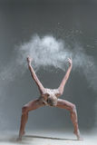 Dancer and flour Royalty Free Stock Image