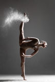 Dancer and flour Stock Image
