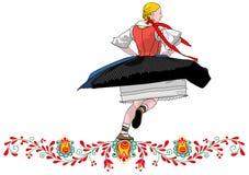 Dancer folklore czech. Illustration vector vector illustration