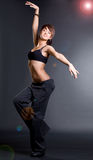Dancer girl. With a slim figure Stock Images