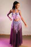 Dancer Girl. Attractive African American Girl Belly Dances Stock Photography
