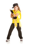 Dancer: Girl Dressed in Hip Hop Dance Costume Royalty Free Stock Image