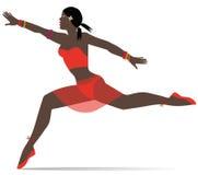 Dancer girl illustration Stock Image