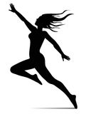 Dancer girl illustration Royalty Free Stock Photography
