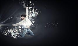 Dancer girl in jump Stock Photography
