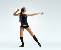 Dancer girl pose Royalty Free Stock Photos