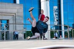 Dancer-guy amateur Break-dance Royalty Free Stock Photography