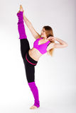 Dancer gymnastic girl with good stretching Stock Images