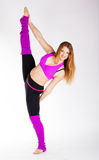 Dancer gymnastic girl with good stretching Royalty Free Stock Photography