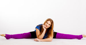 Dancer gymnastic girl with good stretching Royalty Free Stock Image