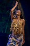 Dancer from haiti royalty free stock image