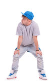 Dancer with hands on knees Stock Photo