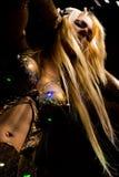 Dancer with headphones stock photography