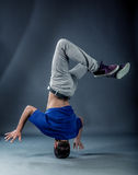 Dancer - Headspin royalty free stock photos