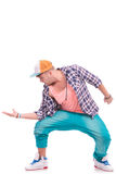 Dancer holding his palm out Royalty Free Stock Photos