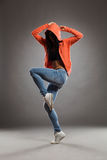 Dancer in a hood Royalty Free Stock Images