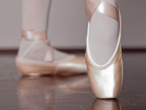 Dancer In Ballet Pointe Shoes Stock Photo