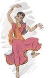 Dancer of Indian dance Royalty Free Stock Photos