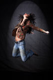 Dancer in jump Royalty Free Stock Photography