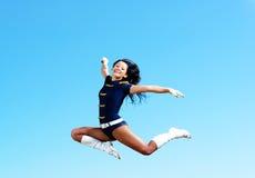 Dancer jumping Royalty Free Stock Image