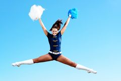 Dancer jumping Stock Images