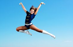 Dancer jumping Royalty Free Stock Photography