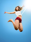 Dancer jumping Royalty Free Stock Photos