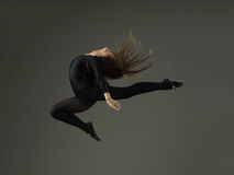 Dancer jumping Royalty Free Stock Images