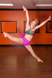 Dancer jumping. A young teen girl dancer jumping in the air Royalty Free Stock Photo