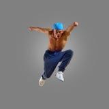 Dancer jumps Stock Images