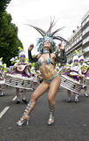 A dancer from the London School of Samba float Royalty Free Stock Images