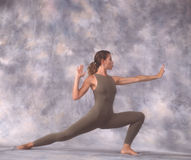 Dancer in lunge royalty free stock image