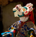 The dancer in mask performing religious Cham dance in Ladakh, In Royalty Free Stock Images