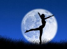 Dancer in the moon Royalty Free Stock Images