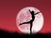 Dancer in the moon Royalty Free Stock Photography