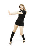 Dancer at motion Stock Photos