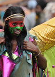 A DANCER IN THE NOTTING HILL CARNIVAL, LONDON Stock Photo